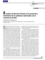 El médico de Atención Primaria en la prevención y tratamiento de ...