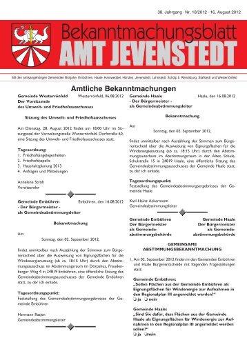 [PDF] Dokument ansehen - Amt Jevenstedt
