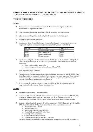 productos y servicios financieros y de seguros basicos