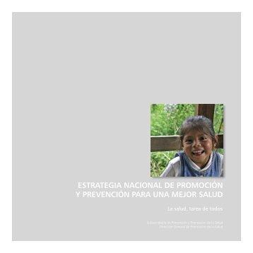 estrategia nacional de promoción y prevención para una - Dirección ...