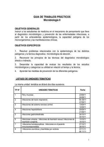 GUIA DE TRABAJOS PRÁCTICOS Microbiología II - Facultad de ...