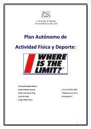 Tema 10. Plan Autónomo de Actividad Física y Deporte
