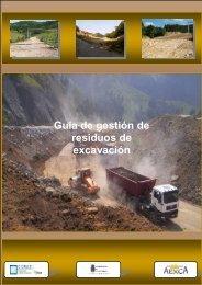 Guía de gestión de residuos de excavación - Federación de ...