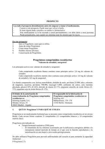 Progyluton comprimidos recubiertos - Bayer Schering Pharma