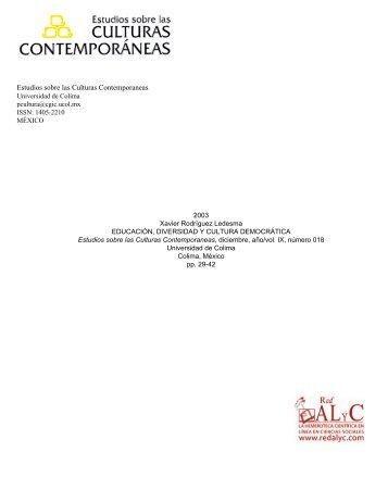 Educación, diversidad y cultura democrática - Sistema de ...