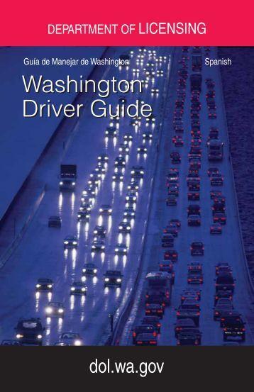 Washington Driver Guide-Spanish - Washington Department of ...
