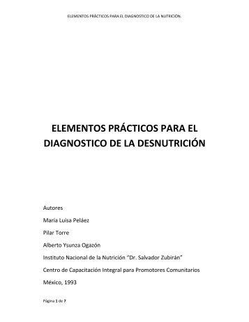 elementos prácticos para el diagnostico de la desnutrición