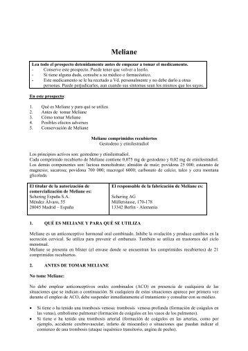 Meliane - Bayer Schering Pharma