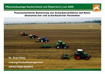 Pflanzenbautage Deutschland und Österreich Juni 2009 - Amazone