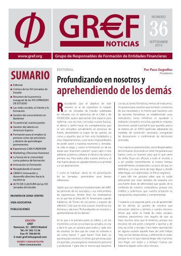 Descargue el nº 36 de septiembre de 2010 en formato PDF (2 ... - Gref