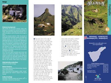Footpath Map - Tenerife