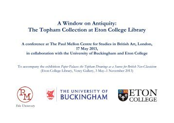 A Window on Antiquity: The Topham Collection at Eton College Library