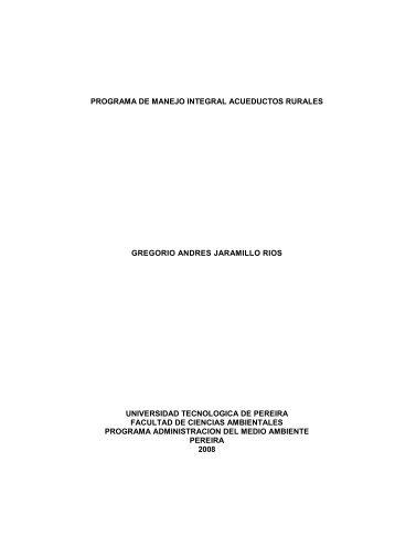 programa de manejo integral acueductos rurales gregorio andres ...