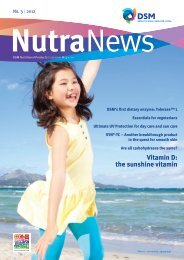 NutraNews - DSM Nutritional Products newsletter 3/2012