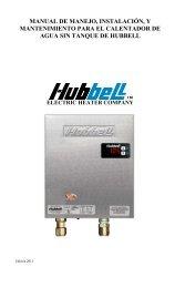 manual de manejo, instalación, y mantenimiento para el calentador ...