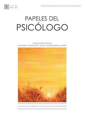 Psicología Positiva - Papeles del Psicólogo
