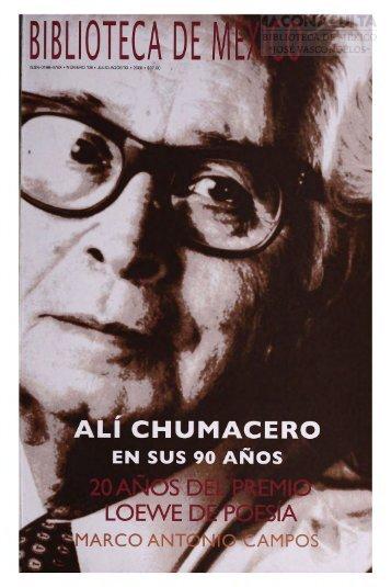 ali chumacero - Dirección General de Bibliotecas - Consejo ...