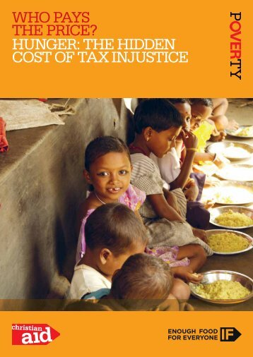 Who pays the price? hunger: the hidden cost of tax injustice