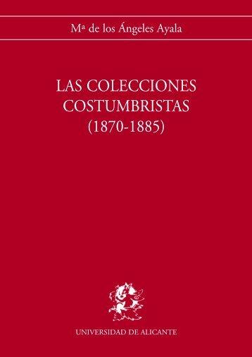 Las colecciones costumbristas - RUA - Universidad de Alicante