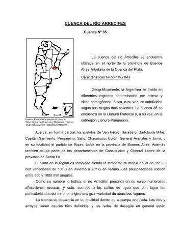 CUENCA DEL RÍO ARRECIFES - Subsecretaría de Recursos Hídricos