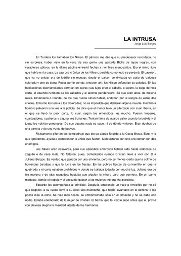 LA INTRUSA, Jorge Luis Borges