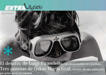 El desafío, de Luigi Pirandello, Tres poemas de Oskar Maria Graf,