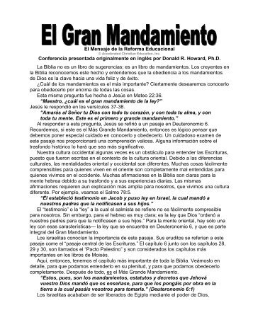 El gran mandamiento - Centro Cristiano Vida Nueva de Matehuala