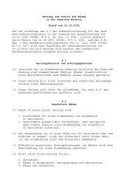 Satzung zum Schutz der Bäume - Amt Neuburg