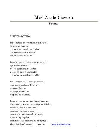 María Ángeles Chavarría - Rostros y Versos