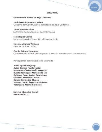 Extraedad 5to grado Español - Supervisión Escolar 039