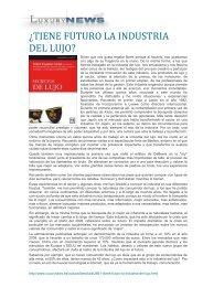 Luxury News - María Eugenia Girón