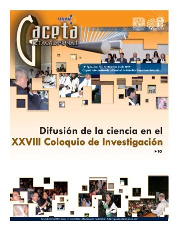 Difusión de la ciencia en el XXVIII Coloquio de ... - Gaceta Iztacala