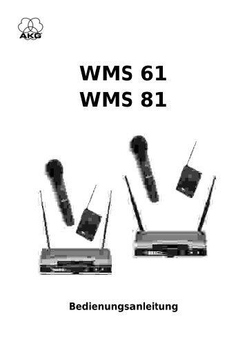 WMS 61 WMS 81 - AudioMaster