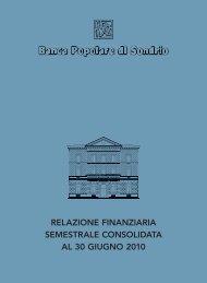 relazione finanziaria semestrale consolidata al 30 giugno 2010