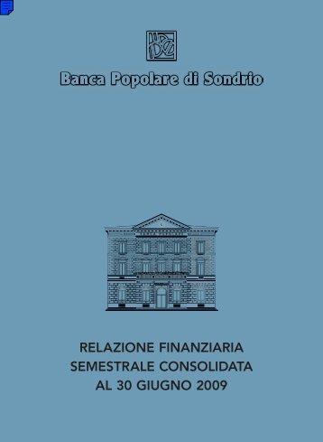 relazione finanziaria semestrale consolidata al 30 giugno 2009