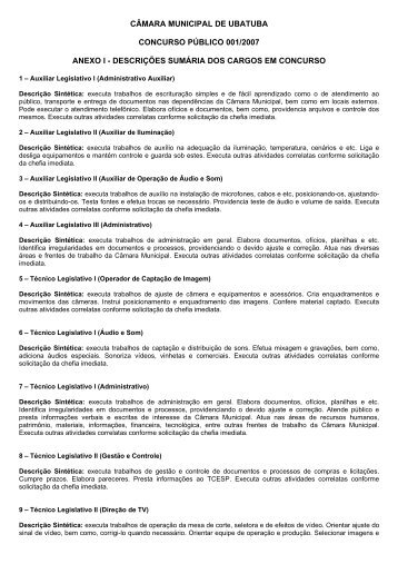 CMARA MUNICIPAL DE UBATUBA