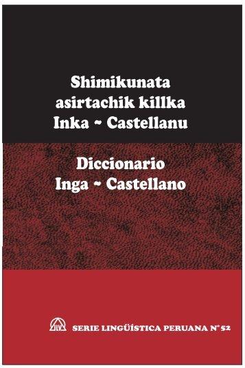 Diccionario Inga (Quechua, Pastaza) ~ Castellano