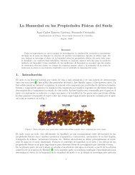 La humedad en las propiedades físicas del suelo. - Grupo de Física ...