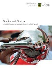 Vereine und Steuern 2010 - Publikationen - Freistaat Sachsen