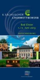 Ausschreibung 2013 - Sächsischer Musikrat eV