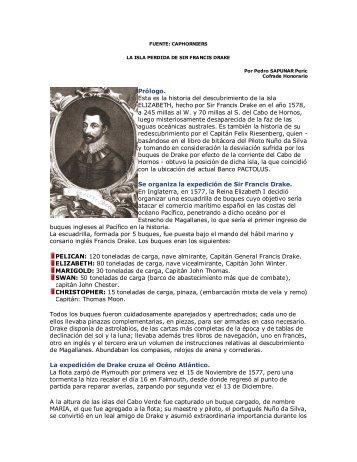 D_11 La isla perdida de Sir Francis Drake - Nao Santiago ...