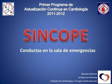 SINCOPE. Conductas en la sala de emergencias. - Fac