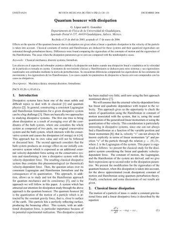 Quantum bouncer with dissipation - Revista Mexicana de Física