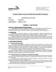 pliego particular de especificaciones técnicas - Gobierno de la ...
