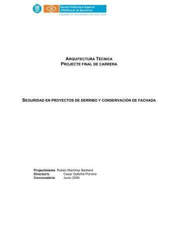 arquitectura técnica projecte final de carrera ... - UPCommons