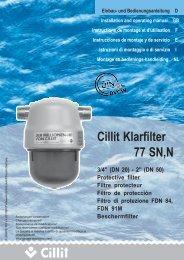 1-505465 Cillit Klarfilter 77 DIN A 5.pmd - Cillichemie