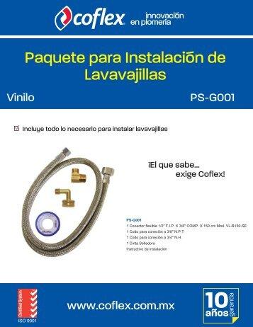 Paquete para Instalación de Lavavajillas - Coflex