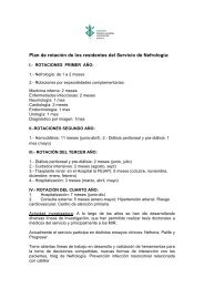 Plan de rotación de los residentes del Servicio de Nefrología: