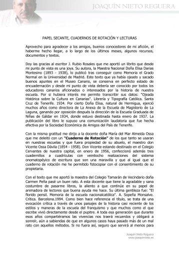 PAPEL SECANTE, CUADERNOS DE ROTACIÓN Y LECTURAS ...