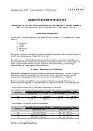 Sichere Hochsitzkonstruktionen (.pdf, 123kb) - Sägewerk Kötting